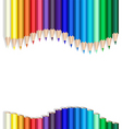 color pencils wave vector image vector image