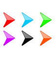 colored shiny 3d arrows glass web icons vector image vector image