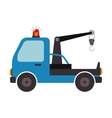 crane car truck design isolated vector image