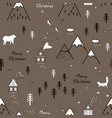 cute seamless scandinavian pattern with bear fox vector image vector image