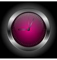 dark red stylish clock vector image