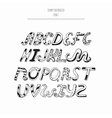 decorated english alphabet from a to z in vector image vector image