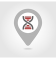 DNA map pin icon vector image