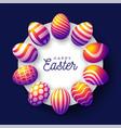 easter insta color egg banner card vector image vector image