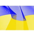 Festive flag banner with beautiful fluttering vector image vector image