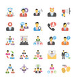 flat icons set of human resource vector image vector image