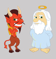 God and the Devil vector image