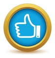 Gold like icon vector image vector image