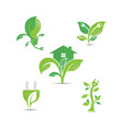 green ecology logo icons vector image