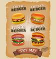 grunge and vintage burger menu
