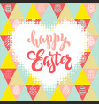 hand drawn lettering happy easter on a seamless vector image