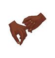 hand holding little finger vector image