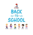 Happy kids on white background back to school vector image vector image