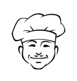 Happy smiling chef with a little moustache vector image vector image