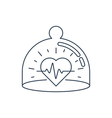 Health care icon heart pulse check up diagnostics vector image vector image