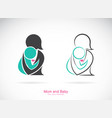 icon of a mom and baby on white background vector image vector image