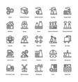 industrial and construction line icon set 7 vector image