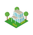 isometric house 3d vector image