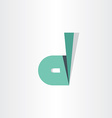 letter d dark green symbol vector image