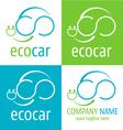 Logo ecologic car icon vector image vector image