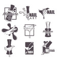 manicure and nail spa sketch icons vector image