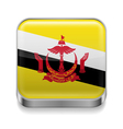 Metal icon of Brunei