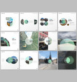 minimal brochure templates with green color vector image vector image