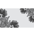 Monochrome lace background Template greeting card vector image