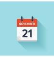 November 21 flat daily calendar icon vector image vector image