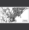 panama city map in black and white color vector image