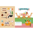 Picnic elements collection vector image vector image