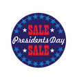 presidents day typography graphic in circle frame vector image vector image