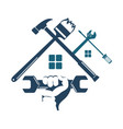repair and construction of the house with a tool vector image vector image