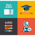 school flat design flyers templates vector image vector image
