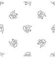 school graduated pattern seamless vector image