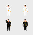set american military officer salutes vector image vector image