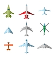 set flat airplane vector image vector image