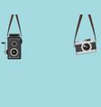 set hanging retro camera vector image vector image