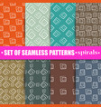 set of abstract seamless background vector image vector image
