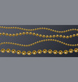 set of realistic golden pearl threads on a vector image