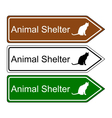 Sign animal shelter vector image vector image