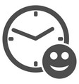 smile credit time flat icon vector image