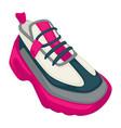 sneakers on massive platform trendy shoes vector image