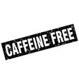 square grunge black caffeine free stamp vector image vector image