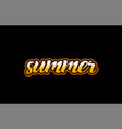 summer word text banner postcard logo icon design vector image vector image