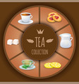 tea collection decorative elements and vector image vector image