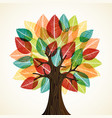 tree with autumn leaves for nature concept vector image