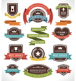 Vintage labels and ribbon vector image vector image