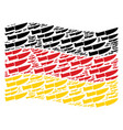 waving germany flag collage of surgery knife items vector image vector image