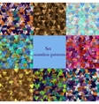 abstract seamless patterns set vector image